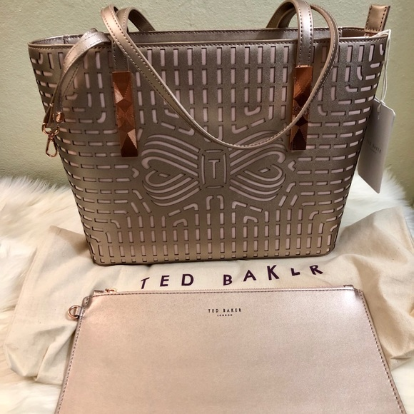 Ted Baker London Handbags - NEW Ted Baker Breeana Cut Out Bow Leather Tote🌼